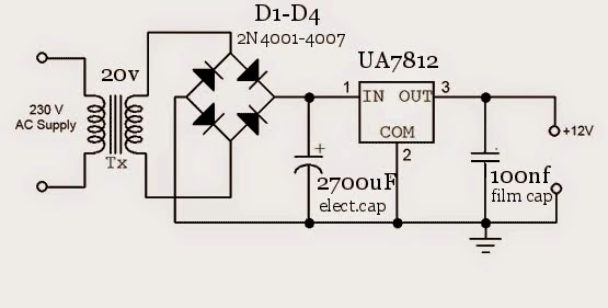 Amateur-built.: 5volt-12Volt / 1Amp DIY power supply!