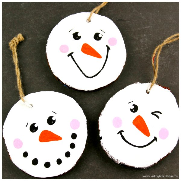 Snowman Winter Crafts for Preschoolers