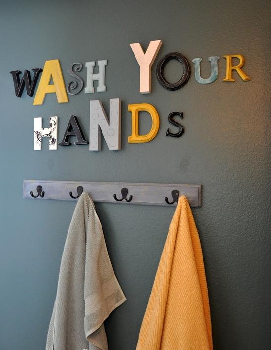decoração banheiro, cabideiro, a casa eh sua, acasaehsua, decor, home decor, interior, decoração, parede cinza
