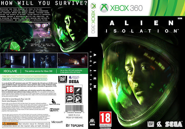 Capa xBox360 Alien Isolation