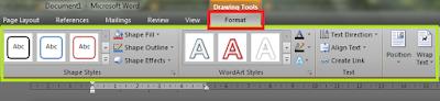 cara membuat word art menggunakan ms word