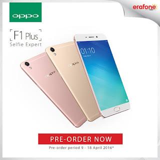 OPPO F1 Plus Pre-Order Promo di Erafone