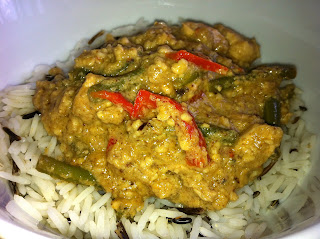 Chicken and Cashew Curry with rice