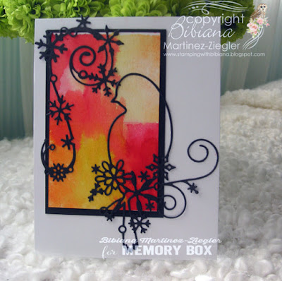 watercolor background bird card front