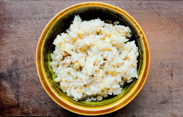 arroz con pollo cremoso