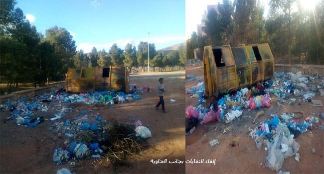 من أسباب التلوث النفايات الملقاة بجانب الحاويات