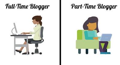 full time or part time blogger
