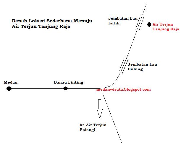 Denah Lokasi Air Terjun Tanjung Raja
