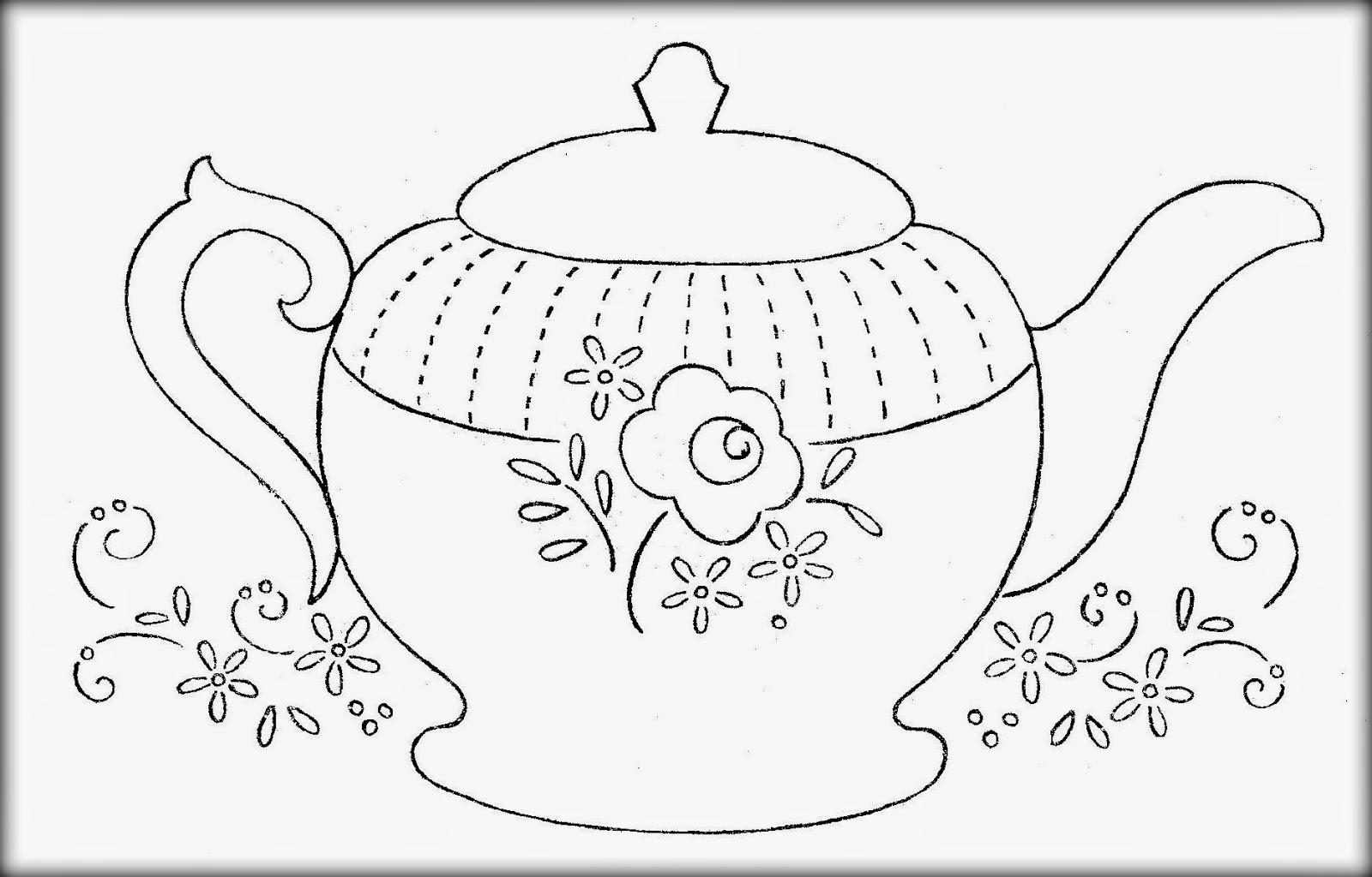 Tea Pot Shape Coloring Coloring Pages