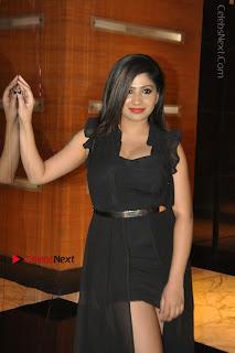 Telugu Actress Model Madhulagna Das Latest Spicy Stills in Black Short Dress  0024.JPG