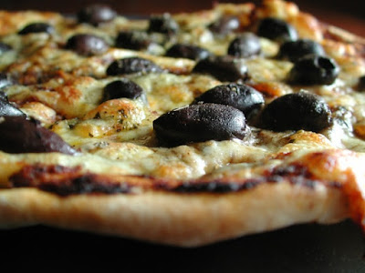 lebanese olive pizza recipe lebanese recipes. Black Bedroom Furniture Sets. Home Design Ideas