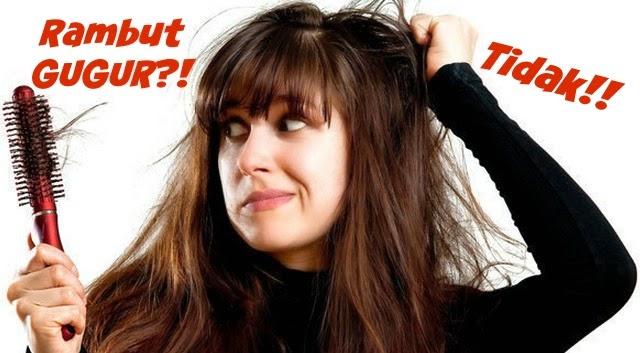 4 Petua Rambut Gugur Teruk