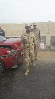 حادث مروري بدائري اكتوبر الهرم