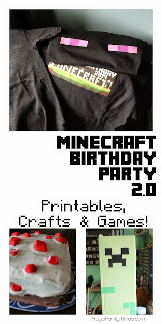 minecraft scavenger hunt birthday party