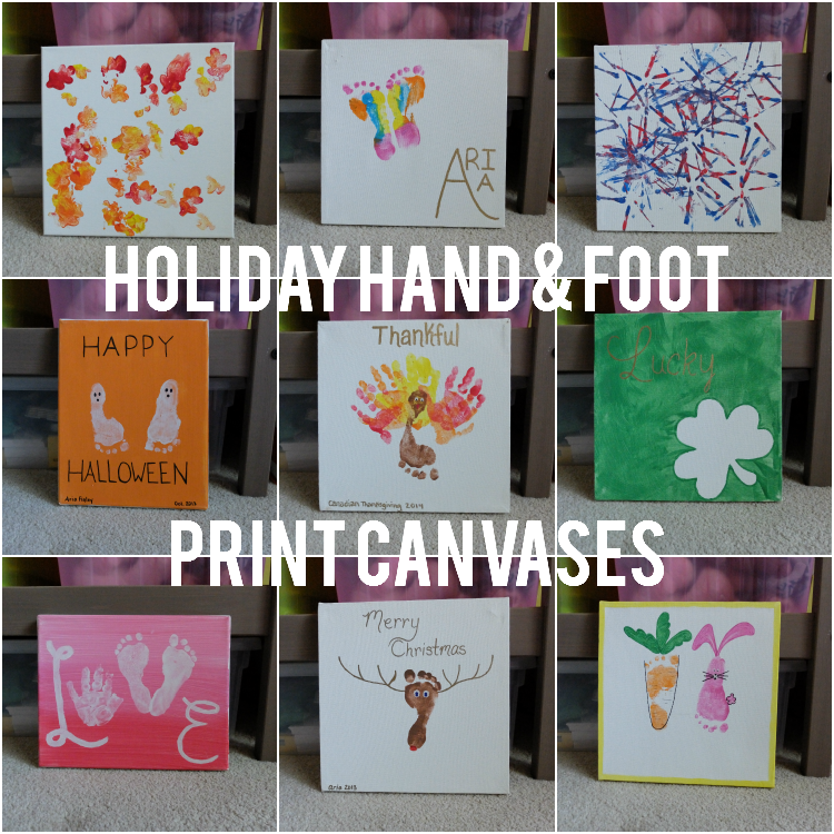 Sweet Turtle Soup - Holiday Hand & Foot Print Canvases