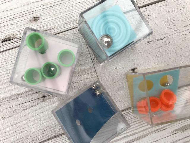 Mini brain teaser cubes