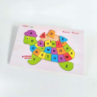 Puzzle Huruf Kura-kura