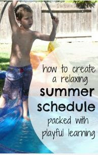 Create a Relaxing Summer Schedule