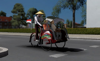 Mod traffic Becak ets2 by yuli indrayana