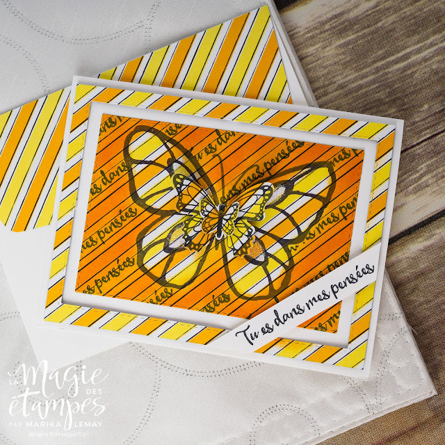Carte Stampin' Up! avec les jeux avec Journée splendide et Gala de papillons