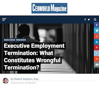 CEO Magazine Article: Executive Employment Termination