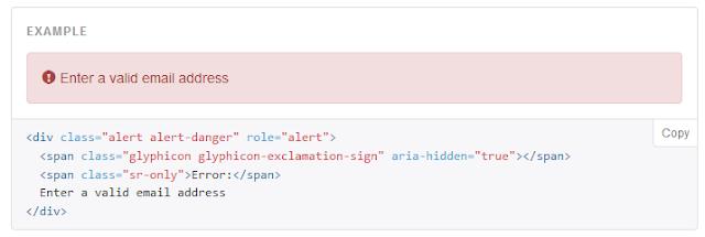 Menampilkan Pesan Error Menggunakan Bootstrap dan PHP