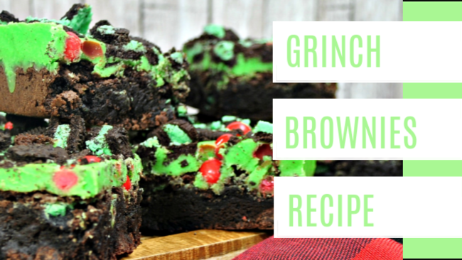 Get Into The Holiday Spirit with Grinch Brownies