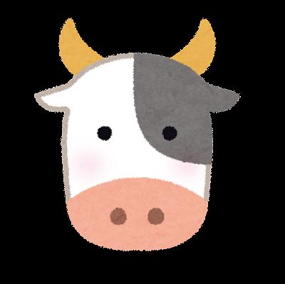 牛の顔のイラスト