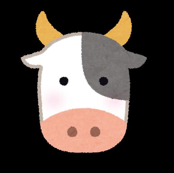 牛の顔のイラスト かわいいフリー素材集 いらすとや
