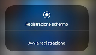 Registrare schermo su iPhone