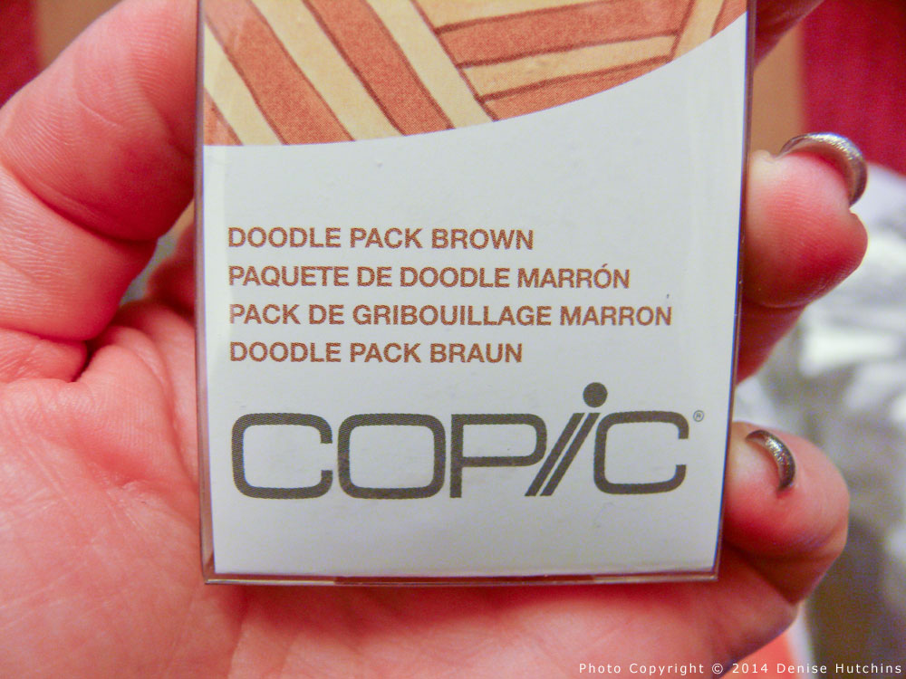 Copic Doodle Pack in Brown, Close-Up