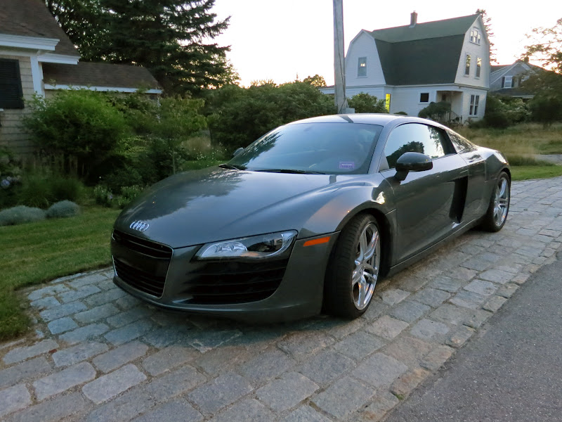 ... Saw Only One Car: This Audi R8 V8 FSI, Its Charcoal And Black Paint  Glowing In The Pink Sunset From Southwest Harbor Harbor, Directly Behind  The House.