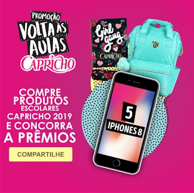 Promoção Volta às Aulas Capricho - Ganhe um iPhone 8