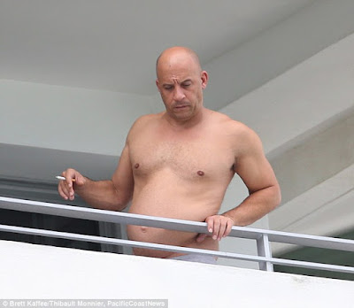 Vin Diesel shows off Pot Belly picture