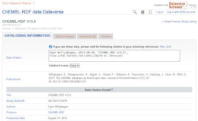 荷兰DataVerse网络:Chembl RDF v13.5数据的主机,对工作流集成的几点思考