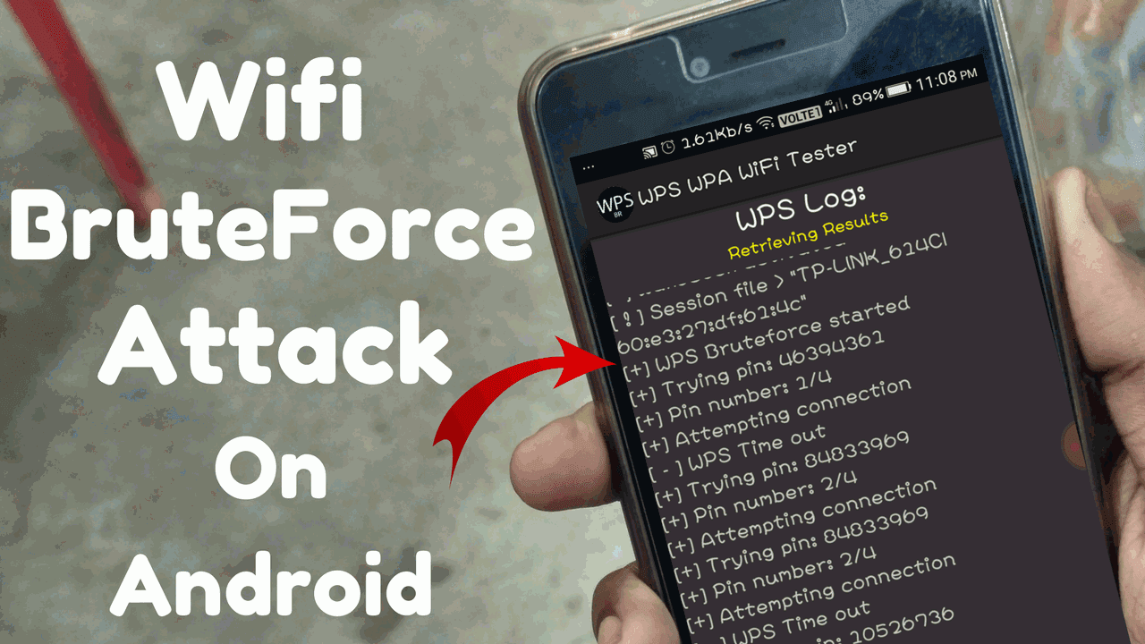 How To Hack Wifi Password Without Root Brute Force Attack On Wps Pin