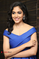 Actress Ritu Varma Pos in Blue Short Dress at Keshava Telugu Movie Audio Launch .COM 0067.jpg
