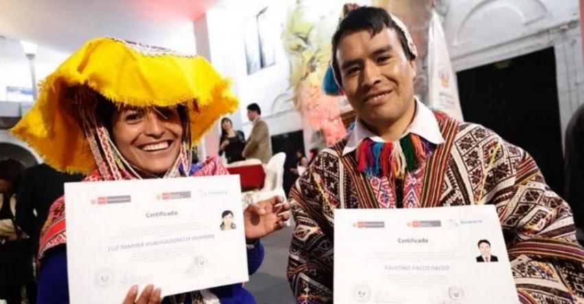 Ministerio de Cultura certificó a 422 servidores públicos bilingües de Cusco