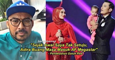 Dato Red Pelik Mengapa Adira Bawa Anak Di AF Megastar