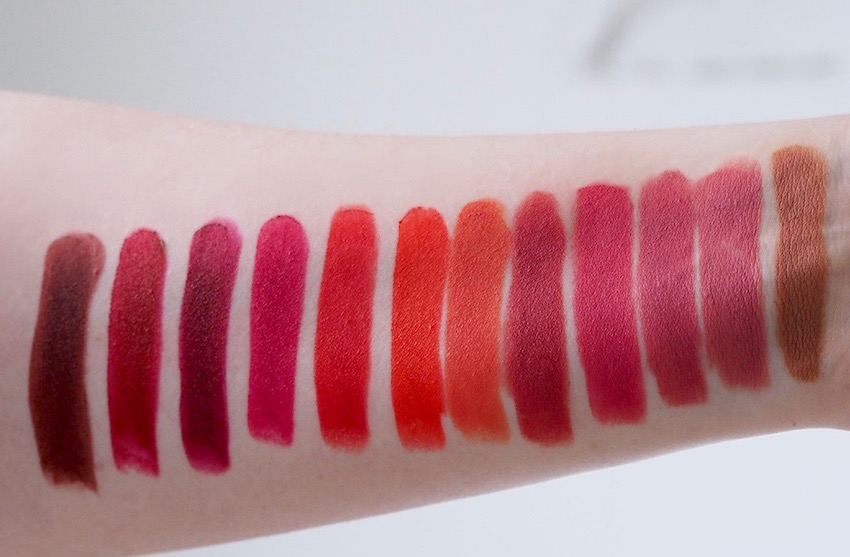 Bourjois Rouge Velvet The Lipstick swatches