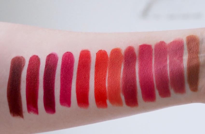 Bourjois Rouge Velvet The Lipstick swatches