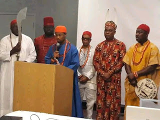 Obi Nduka in London with council members, obi of issele-uku