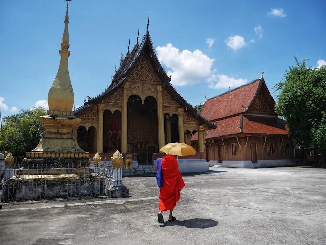 Buddhist monk at Wat Sen, Luang Prabang, Laos