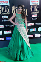 Manjusha in Beautiful Sleeveless Green Anarkali dress at IIFA Utsavam Awards 15.JPG