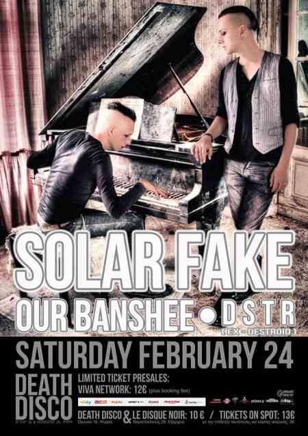 SOLAR FAKE:  Σάββατο 24 Φεβρουαρίου @ Death Disco w/ Our Banshee και DSTR