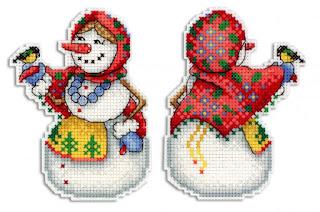 Cross-stitch М.П. Студия Р-319 «Снеговушка»