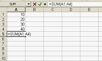 Learn Practical  Use of SUM function in MS Example with examples