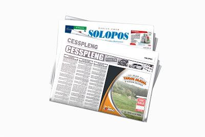pasang Iklan Tanah Dijual koran Solopos