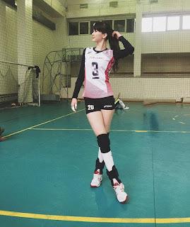 Foto Sabina Altynbekova pemain voli cantik