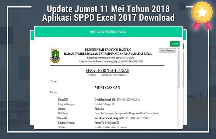 Aplikasi SPPD Excel 2017 Download